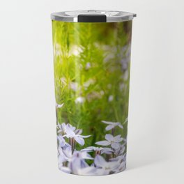 Sun-kissed Meadows with White Star Flowers Travel Mug