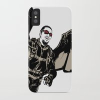 falcon iPhone & iPod Cases featuring Falcon by Irene Flores