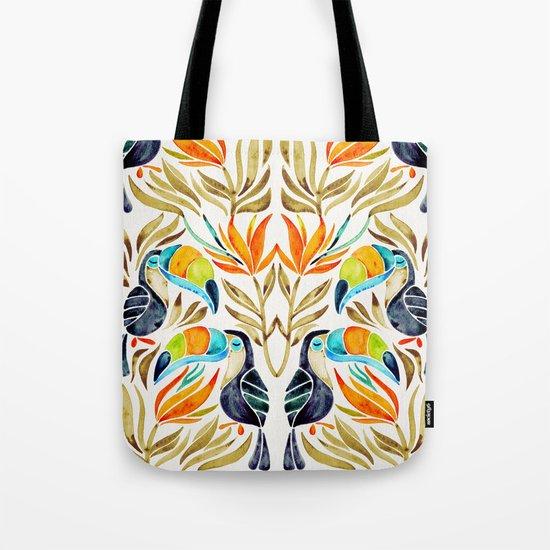 Tropical Toucans – Sepia Palette Tote Bag