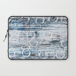 Columbia Blue abstract watercolor Laptop Sleeve