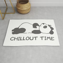 chillout time panda Rug