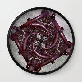 fractal square -2- Wall Clock
