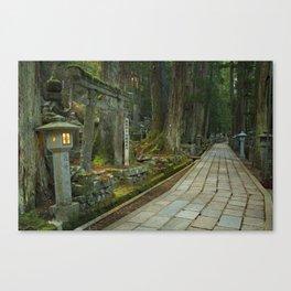 Path through Koyasan Okunoin cemetery, Wakayama Prefecture, Japan Canvas Print