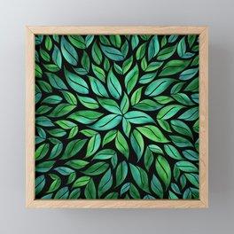 Night Leaves Framed Mini Art Print