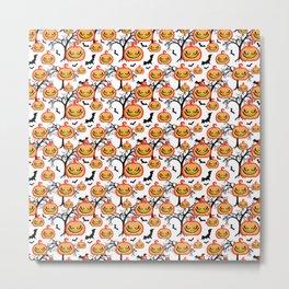 Pumpkinhead Pattern Metal Print