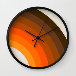 Retro Golden Rainbow - Right Side Wall Clock