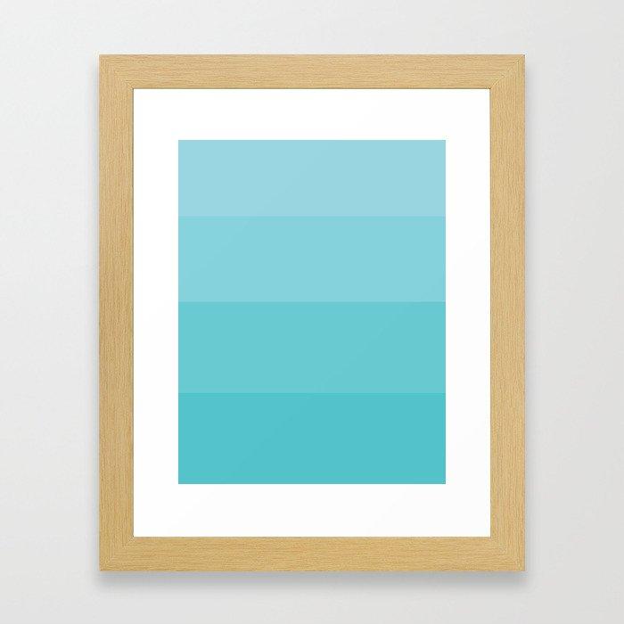 Blue Gradient Framed Art Print