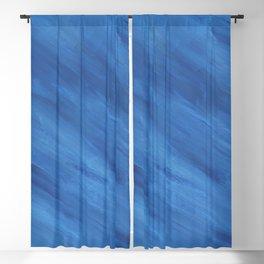 Diagonal Blue Stripes Print Blackout Curtain