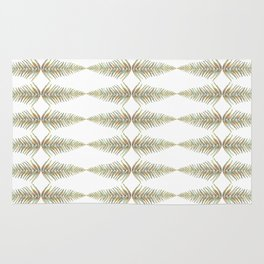 Watercolor Fern Pattern Rug
