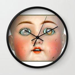 Mad-Eyed Mentalembellisher Victorian Porcelain Doll Wall Clock