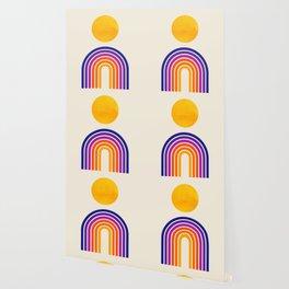 Rainbow Sun: Retro 80s Edition Wallpaper