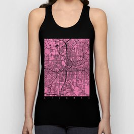 Atlanta map pink Unisex Tank Top