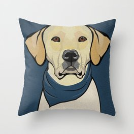 Icons of the Dog Park: Yellow Labrador Design in Bold Colors for Pet Lovers Throw Pillow