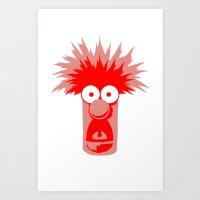 muppets Art Prints featuring Muppets beaker by siti fadillah