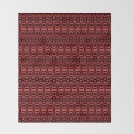 Dividers 07 in Red over Black Throw Blanket