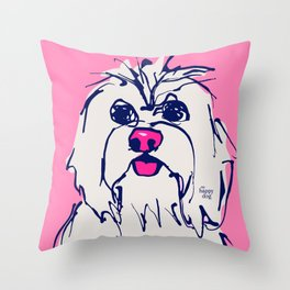 Lulz - candypink Throw Pillow