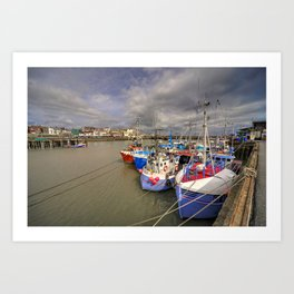 Bridlington Harbour  Art Print