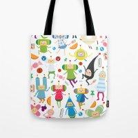 katamari Tote Bags featuring KATAMARI DAMACY by Erin Lowe