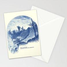 Lower Falls, Ticonderoga (cyan) Stationery Cards