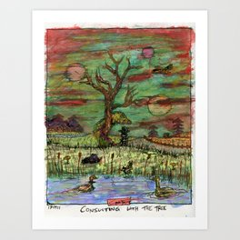 Consulting With The Tree Art Print