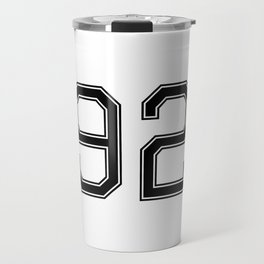 Number 92 American Football, Soccer, Sports Design Travel Mug