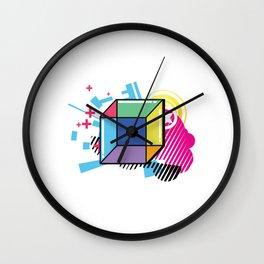 Math Geometry Geometric Cube Isometric 2d 3d Shape Form Wall Clock