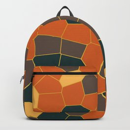 Hexagon Abstract Orange_Brown Backpack