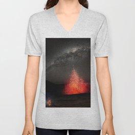 Kilauea Volcano Eruption .3 Unisex V-Neck