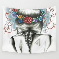 sister Wall Tapestries featuring Sister Nature by Alysia Grudier
