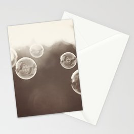 Bubbles Photography, Soap Bubble Laundry Room Art, Bathroom Photo, Brown Bath Picture Restroom Print Stationery Cards