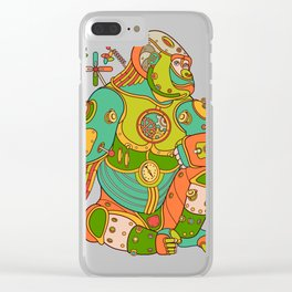 Gorilla, cool wall art for kids and adults alike Clear iPhone Case