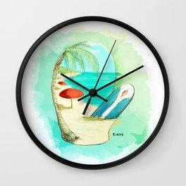 Mitten Beach Wall Clock