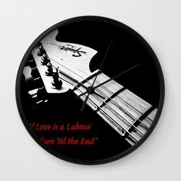 """Swing Life Away"" Rise Against Lyrics with Guitar Wall Clock"