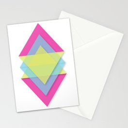 CMY Pattern Stationery Cards