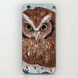 Painted Owl iPhone Skin
