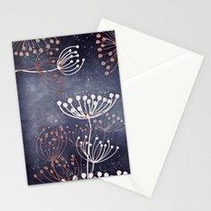 WONDERGARDEN ROSEGOLD BLUE Stationery Cards