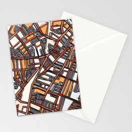 Abstract Map - Porter Square Somerville Stationery Cards