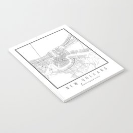 New Orleans Louisiana Street Map Notebook