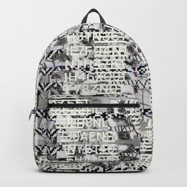 The Eternal Return Of The Unique Event (P/D3 Glitch Collage Studies) Backpack