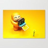 polaroid Canvas Prints featuring Polaroid by m4Calliope