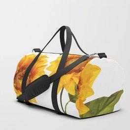 Sunflowers Illustration Duffle Bag
