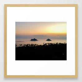 Na Mokulua Sunrise Framed Art Print