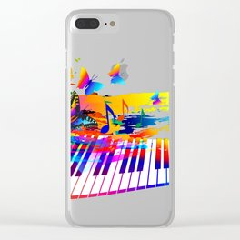 Colorful music instruments design Clear iPhone Case