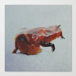 Wandering Fox Canvas Print