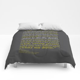 Man in the Arena / Theodore Roosevelt Comforters
