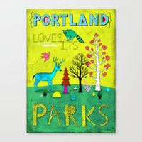 parks Canvas Prints featuring Portland Parks by Jon MacNair