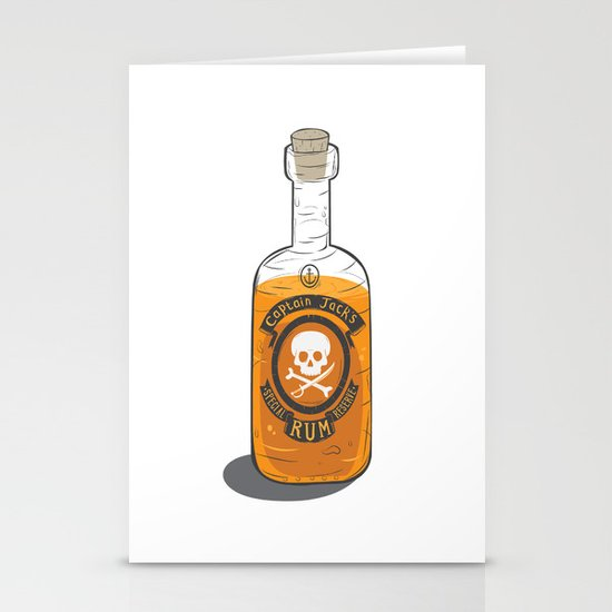Captain Jack's Special Rum Reserve Stationery Cards