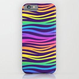 Rainbow Pattern Neck Gator Rainbow Zebra Rainbow Nostalgia iPhone Case