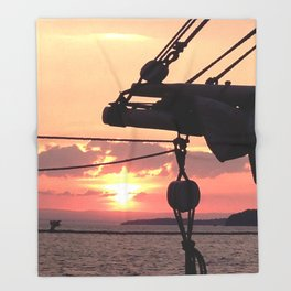 Sunset Sail Throw Blanket