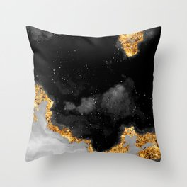 100 Starry Nebulas in Space Black and White 091 (Portrait) Throw Pillow